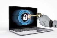 Free Robot Unlock With Key Stock Photography - 109759712