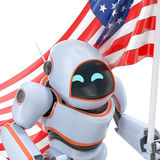 Robot USA 3d illustration Royalty Free Stock Photography