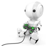 Robot using a game pad control Royalty Free Stock Image