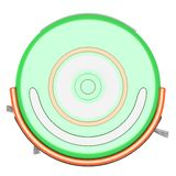 Robot vacuum cleaner 3d Royalty Free Stock Photo