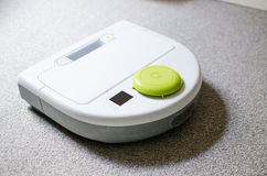 A robot vacuum cleaner for household Royalty Free Stock Photo