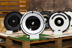 Robot vacuum cleaner Stock Images
