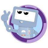 Robot. Vector cartoon blue fun robot Stock Images
