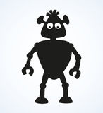 Robot. Vector Drawing Royalty Free Stock Image