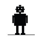 Robot vector silhouette Royalty Free Stock Photos