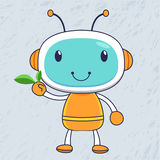 Robot verde Imagen de archivo