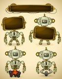 Dispositivi verdi del robot dell'annata Fotografia Stock