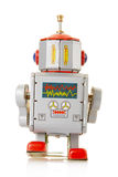 Robot vintage toy back Royalty Free Stock Photo