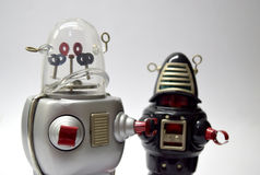 Robot vintage toy close up Stock Image