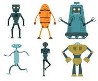 Robot in vlakke stijl wordt geplaatst die Royalty-vrije Stock Foto's