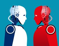 Free Robot Vs Robot. Concept Technology Vector Illustration Royalty Free Stock Photo - 122489565