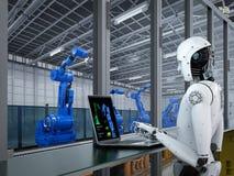 Robot w fabryce Zdjęcia Stock