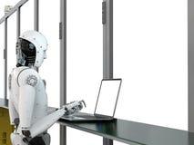 Robot w fabryce Zdjęcie Stock