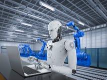 Robot w fabryce Fotografia Stock