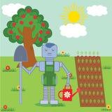 Robot w ogródzie Zdjęcia Stock