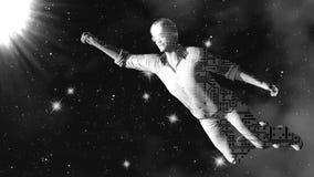 Robot w przestrzeni świadczenia 3 d sztuka 4K Zdjęcie Royalty Free