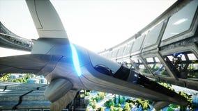 Robot w Sci fi tonnel Poj?cie przysz?o?? Realistyczna 4K animacja royalty ilustracja