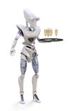 Robot Waitress Stock Photography