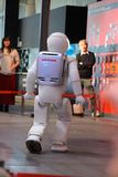 Robot walking around doing a Demo at museum Stock Photos