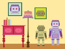 Robot wallpaper Stock Images