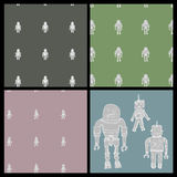 Robot Wallpaper Swatch Set Stock Photography