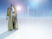 Robot Warrior royalty free illustration