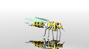 Robot wasp Royalty Free Stock Image
