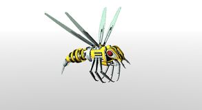 Robot wasp Royalty Free Stock Photos