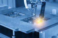 The robot welding machine welding Stock Photography