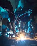 Robot welding Royalty Free Stock Photo