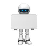 Robot with a white board. A robot with a white board Royalty Free Stock Photography