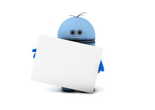 Robot with a white board Stock Images