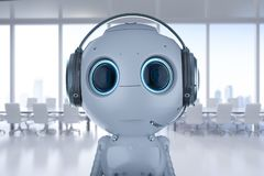 Free Robot With Headset Royalty Free Stock Photo - 130185555