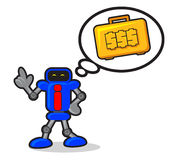 Robot With Money Royalty Free Stock Photos