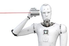 Free Robot With Tin Can Royalty Free Stock Photos - 107828868