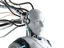Free Robot With Wires Isolated Royalty Free Stock Photo - 150632925