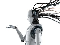 Free Robot With Wires Isolated Stock Photos - 151940583