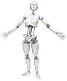 Robot Woman. On a white background Royalty Free Stock Photos