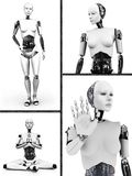 Robot woman collage nr 2 Royalty Free Stock Photo