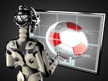 Free Robot Woman Manipulating Hologram Displey Royalty Free Stock Photography - 44065487