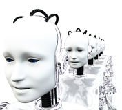 Robot Women 2 Stock Images