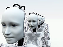 Robot Women 3 Royalty Free Stock Photography