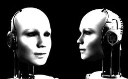 Robot Women 5. An image of some heads of technologically robotic women who have been duplicated, or cloned Royalty Free Stock Images