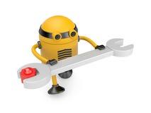 Robot at work Stock Photo