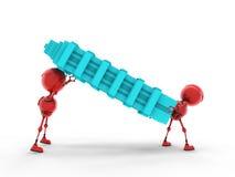 Robot worker Stock Image