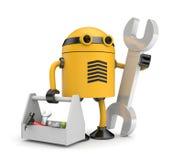 Robot worker Stock Photo