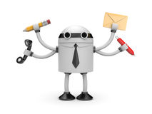 Robot worker Royalty Free Stock Photos