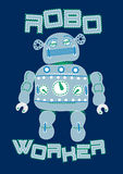 Robot worker. Vector illustration of a robot Royalty Free Stock Images