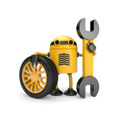 Robot worker with spanner Stock Photography