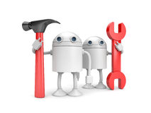 Robot workers Stock Images